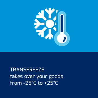 TRANSFREEZE takes over your goods from -25°C to +25°C
